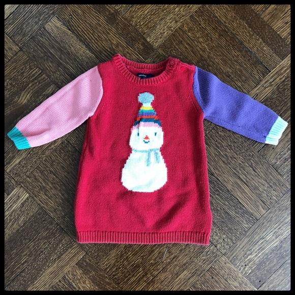 680cee2ea45 GAP Other - ⛄ Baby Gap Christmas Snowman Sweater Dress